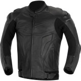 Alpinestars Black Shadow Phantom Leather Jacket - Motorcycle Jackets