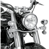 Show Chrome Mini Driving Light Kit - Elliptical - Show Chrome Cruiser