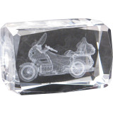 Show Chrome Laser Etched Crystal Paperweight - GL1800 - Show Chrome Motorcycle Gifts