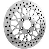 "Biker's Choice Polished 11.5"" Mesh Style Brake Rotor - Front -  Cruiser Brakes"