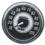 Biker's Choice FL Type Speedometer - 41-45 Silver & Black Face - Cruiser Dash and Gauges