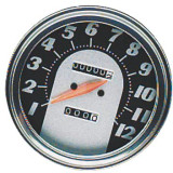 Biker's Choice FL Type Speedometer - 62-67 Antique Face - Cruiser Dash and Gauges