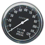 Biker's Choice FL Type Speedometer - Police Special - Cruiser Dash and Gauges