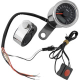 Biker's Choice Electronic LED Mini Speedometer - Cruiser Dash and Gauges