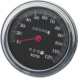Biker's Choice FL Type Speedometer With Domed Glass - Cruiser Dash and Gauges