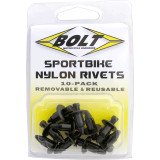 Bolt M6 Nylon Push Rivets - Bolt Utility ATV
