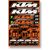 D'COR Visuals 2014 KTM SXF Decal Sheet - ATV Graphics, Decals, Seats and Seat Covers