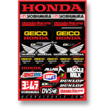 D'COR Visuals 2014 Team Geico Honda Decal Sheet - ATV Graphics, Decals, Seats and Seat Covers