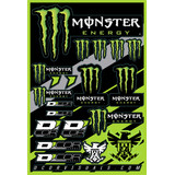 D'COR Visuals Monster Energy Decal Sheet - ATV Graphics, Decals, Seats and Seat Covers