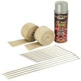 Tan Wrap / Aluminum HT Spray
