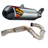 FMF Aluminum Factory 4.1 Slip-On RCT With Powerbomb Header And Carbon Fiber End Cap - Dirt Bike Exhaust Systems & Accessories