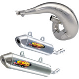 FMF Fatty Pipe & Powercore 2 Silencer Combo - Dirt Bike Exhaust Systems & Accessories