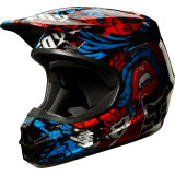 Fox Racing 2014 V1 Helmet - Creepin - Dirt Bike Motocross Helmets