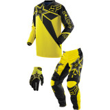 Fox Racing 2014 Youth 180 / HC Combo - Rockstar - Fox Utility ATV Pants, Jersey, Glove Combos