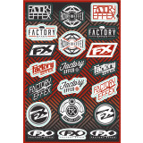 Factory Effex Logo Sticker Sheet - Dirt Bike Graphics