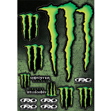 Factory Effex Monster Energy Sticker Sheet - ATV Graphics, Decals, Seats and Seat Covers