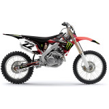 Factory Effex 2013 Monster Energy Cosmetic Kit - Honda - Dirt Bike Graphic Kits With Seat Covers