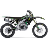 Factory Effex 2013 Monster Energy Cosmetic Kit - Kawasaki - Dirt Bike Graphic Kits With Seat Covers