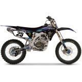 Factory Effex 2013 Monster Energy Cosmetic Kit - Yamaha - Dirt Bike Graphic Kits With Seat Covers