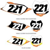 DX1 Backgrounds Pro - KTM - Factory Effex 2013 Rear Fender Decal - KTM