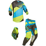 Fly 2014 Kinetic Combo - Blocks - Dirt Bike Pants, Jersey, Glove Combos