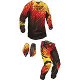 Fly 2015 Kinetic Combo - Glitch - Dirt Bike Pants, Jerseys, Gloves, Combos
