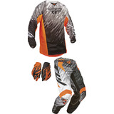 Fly 2015 Youth Kinetic Combo - Glitch - Dirt Bike Pants, Jerseys, Gloves, Combos