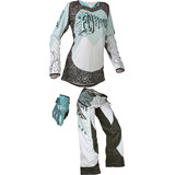 Fly 2015 Girl's Kinetic OTB Combo - Dirt Bike Pants, Jersey, Glove Combos