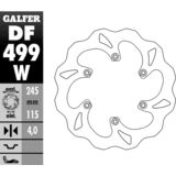 Galfer Standard Wave Brake Rotor - Rear