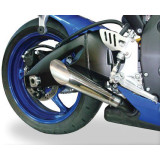 Hot Bodies Racing Megaphone Slash Cut Slip-On Exhaust - Hotbodies Racing Motorcycle Products