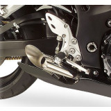 Hot Bodies Racing GP Style Slash Cut Slip-On Megaphone Exhaust - Dual - Hotbodies Racing Motorcycle Products