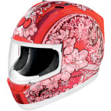 Icon Alliance Helmet - Cherry Pop - Womens Full Face Motorcycle Helmets