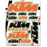 KTM OEM Parts Sticker Sheet - Motorcycle Decals & Graphic Kits