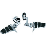 Kuryakyn Longhorn Offset Sweptwing Highway Pegs With Quick Clamps - Kuryakyn Cruiser Parts