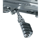 Kuryakyn Footpegs With Long Right Angle Mounts And Magnum Quick Clamps - ISO Dually - Kuryakyn Cruiser Parts