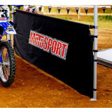 MotoSport 10' 1/2 Wall And Rail With Screen Print -  Motorcycle Tools and Maintenance