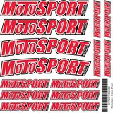 MotoSport Decal Sheet - Motorcycle Decals & Graphic Kits