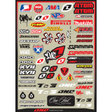 One Industries 2013 Helmet Logos Decal Sheet - ATV Graphics, Decals, Seats and Seat Covers