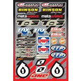 One Industries 2013 Quad Decal Sheet - One Industries Dirt Bike Dirt Bike Parts