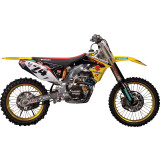 One Industries 2013 Factory Graphic Kit - Suzuki - Dirt Bike Graphic Kits With Seat Covers