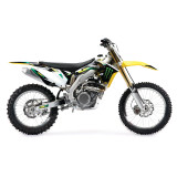 One Industries 2012 Monster Energy Graphic Kit - Suzuki - Dirt Bike Graphic Kits With Seat Covers