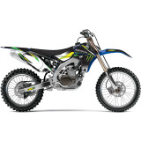One Industries 2012 Monster Energy Graphic Kit - Yamaha - Dirt Bike Graphic Kits With Seat Covers