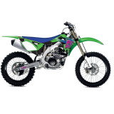 One Industries 2013 Throwback Graphic Kit - Kawasaki - One Industries Dirt Bike Dirt Bike Parts