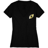 One Industries Women's Icon Gold V-Neck T-Shirt - Utility ATV Womens Casual