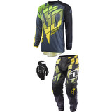 One Industries 2015 Atom Combo - Shred - Dirt Bike Pants, Jerseys, Gloves, Combos