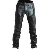 Pokerun Outlaw 2.0 Leather Chaps - Pokerun Motorcycle Pants and Chaps