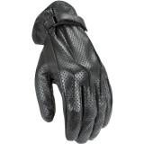 Power Trip Women's Perforated Jet Black Gloves - Motorcycle Gloves
