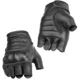 River Road Twin Iron Shorty Leather Gloves - Motorcycle Gloves