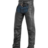 River Road Plains Leather Chaps - Motorcycle