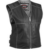 River Road Women's Rambler Leather Vest - River Road Cruiser Riding Gear